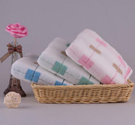 Colored Squares Discontinuity Absorbent Cotton Adult Facecloth