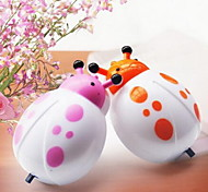 LED Nightlight Plugged Cartoon Ladybird Durable Bedside Lamp Night Light