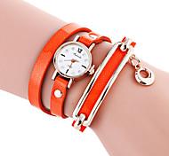 Damen Modeuhr / Armband-Uhr Quartz / PU Band Cool / Bequem Schwarz / Weiß / Blau / Rot / Orange / Braun / Grün Marke