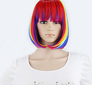 Synthetic Short Wigs 1pc Full Lace Straight Bob Wigs seven Color Cheap Beauty Cosplay Women Wig Fast Shipping