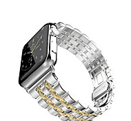 Negro / Rose / Dorado / Plata Acero Inoxidable Seven bead Stainless steel Correa Deportiva Para Apple Reloj 38mm / 42mm