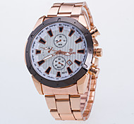 Men's Fashion Watch / Quartz Alloy Band Casual Rose Gold
