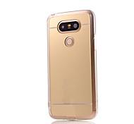 Для Кейс для LG Покрытие / Зеркальная поверхность Кейс для Задняя крышка Кейс для Один цвет Твердый Акрил LG LG G5