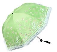 Vert / Bleu Ombrelle pliable Ensoleillé et Rainy Métallique / Plastic Lady