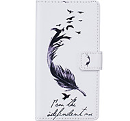 PU Leather Material Feather Pattern Phone Case for Huawei P9 Lite/P9/P8 Lite