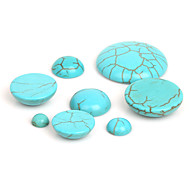 beadia 10pcs cabochons cúpula de piedra sintética de color turquesa de 18 mm perlas