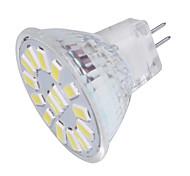 4 GU4(MR11) Lâmpadas de Foco de LED MR11 15 SMD 5733 350 lm Branco Quente / Branco Frio Decorativa 30/9 V 1 pç