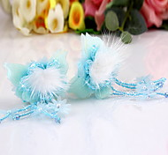 Women's Flower Girl's Fabric Butterfly Hair Clip