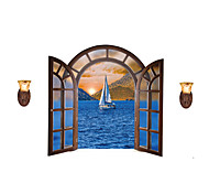 Wall Stickers Wall Decals Style Creative Ship At Sea PVC Wall Stickers