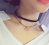 Жен. Ожерелья-бархатки Ожерелья с подвесками Татуировка Choker Круглой формы В форме квадрата В форме звезды Треугольной формы Сплав