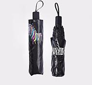 Folding Umbrella Creative Magic Water Color Zebra Umbrella Uv Protection Sun Umbrella