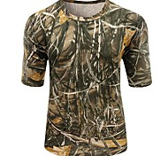 Outdoor Sports Cotton Camouflage Summer Spring Short Sleeve Tshirt Max4 Camo Clothing Shirt for Hunting Fishing