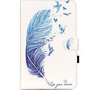 Voor Samsung Galaxy hoesje Kaarthouder / Portemonnee / met standaard / Flip / Patroon hoesje Volledige behuizing hoesje Veer Zacht PU-leer