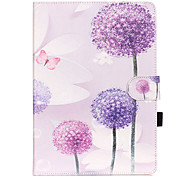 PU Leather Material Dandelion Pattern Painted Embossed Tablet Case for iPad Air 2