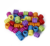 Beadia Assorted Color Acrylic Beads 7x8mm Tube Plastic Loose Beads(50g/approx 200pcs)