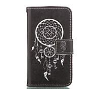 Corpo Completo carteira / Entrada de Cartão / com suporte Flor Couro Ecológico Macio Case Capa Para Samsung GalaxyGrand Prime / Core