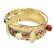 Colorful Beads Bracelets Bangles Set