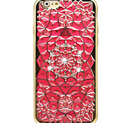 Golden Plating TPU + 3D Diamond Surface Rhinestone High-Grade Soft Phone Case for iPhone 6/6S/6 Plus/6S Plus
