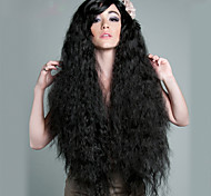 Black Curly Long Length Fashion American and Afican Women Daily Wearing Wigs Top Quality