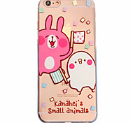 White Rabbit Pattern Material Transparent TPU Phone Case for iPhone  6 6S  6 Plus 6S Plus