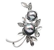 Women's Fashion Rhinestone Gold Silver plated Imitation Pearl Jewelry Brooch Pins Shawl Scarves Scarf Buckle