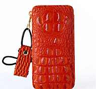 Genuine Leather Wallet Crocodile Grain  Animal Case Cover For iPhone 6s Plus/6 Plus iPhone 6s/6 iPhone SE/5s/5