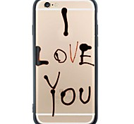 I Love You Back Cover Dustproof/Pattern Word/Phrase Soft TPU and PC Case Cover For iPhone 6s Plus/6 Plus/6s/6/SE/5s/5