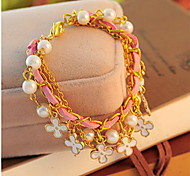 Chain Bracelets Flower Fashionable Daily / Casual Jewelry Gift Gold