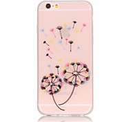 Dandelion Pattern TPU Material Glow in the Dark Soft Phone Case for iPhone 5/5S/SE/6/6S/6 Plus/6S Plus