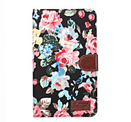 For T280 Cases Painting Flower Skull PU Leather Case Cover With Credit Card Stand For Samsung Galaxy Tab A 7.0 T280