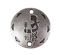 20pcs New Alloy Parts Twelve Constellation Virgo Round Accessories