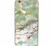 Green Marble Pattern Material TPU Phone Case for iPhone 7 7 Plus 6s 6 Plus SE 5s 5