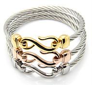 Vintage Men Jewelry Stainless Steel Bracelet Hooks Gigantic 8 Bracelet Bracelet Femme Men Bracelet l