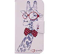 Giraffes Pattern PU Leather Full Body Leather Case with Card Slots for Motorola Moto G4 Plus/G4