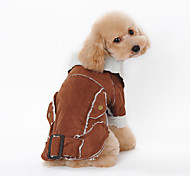Dog Coat Blue / Brown / Coffee Winter Animal Keep Warm, Dog Clothes / Dog Clothing