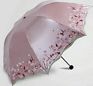 Genuine Paradise Umbrella 33190E Perfect Travel Triple Vinyl Uv Sun Umbrella Umbrellas Clear Umbrellas
