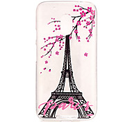 Eiffel Tower Pattern TPU Relief Back Cover Case for Moto G4 Play