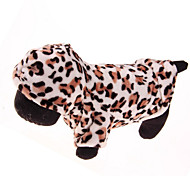 Dog Hoodie Coffee Winter Leopard Leopard / Keep Warm, Dog Clothes / Dog Clothing