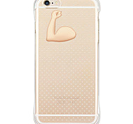 Fashionable Muscle Drop-resistance/Dust Free/Waterproof/Transparent Soft TPU Back Case For i6s Plus/6 Plus/6s/6/SE/5S/5