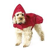 Коты Собаки Дождевик Одежда для собак Лето Весна/осень Однотонный Водонепроницаемый Черный Красный Синий