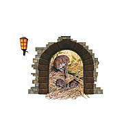 Lovely 3D Mouse Hole House PVC Wall Sticker Wall Decals