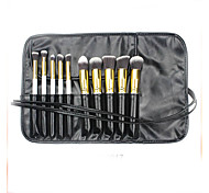 10 Makeup Brushes Set Synthetic Hair Portable Plastic Face Others