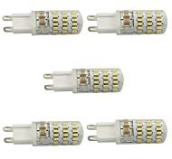 4 G9 Luci LED Bi-pin T 4 COB 400 lm Bianco caldo / Luce fredda Intensità regolabile AC 220-240 V 5 pezzi