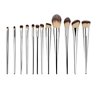 Silver 12 Pcs Makeup Brushes Set Synthetic Hair Make Up Brushes Tools Cosmetic Foundation Brush Kits