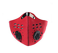 Pollution Protection Mask Bike Windproof / Dust Proof / Limits Bacteria Men's Red / Black / Blue Rubber / Mesh/Net