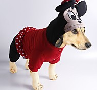 Autumn and Winter Cute Cartoon Mouse Costume Jumpsuit Dogs Clothes  for Pets Dogs Dog Jumpsuit Christmas Clothes