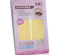 Fenlin ® No Glisten Yellow Double Eyelids Medical Level Sticker 60 Pieces With Holes To Breath
