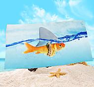 "1 PC Micro Fiber Beach Towel 55"" by 27"" 3D Pattern"