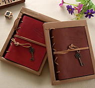 Creative Tying Leather Notebook with Bronze Key