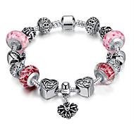 Bracelet Chaînes & Bracelets / Charmes pour Bracelets / Bracelets de rive / Bracelets d'identification Acier inoxydable Forme de Cercle